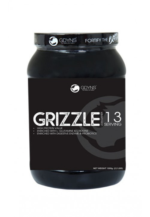 GRIZZLE LEAN GAINER -1000G (2.2LBS)