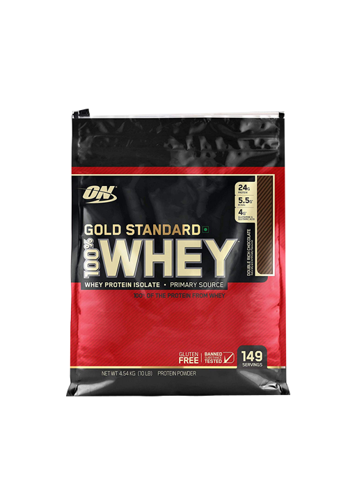 ON (Optimum Nutrition) Gold Standard 100% Whey Protein, 10 lb Double Rich Chocolate