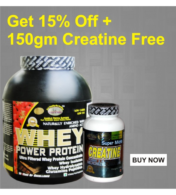GDYNS Whey Power Protein 2500gm+150gm Creatine Free