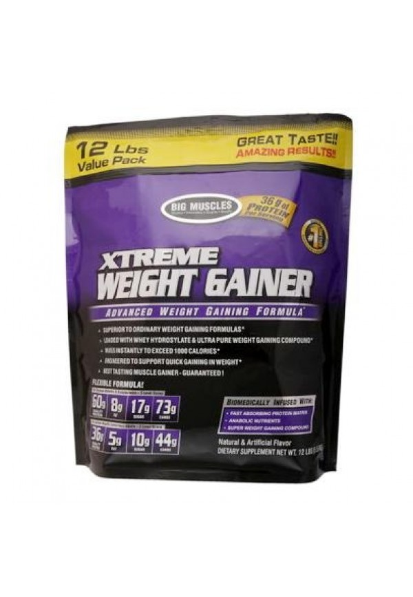 Big Muscle Xtreme Weight Gainer, Chocolate 12 lb