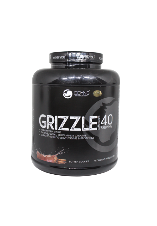 GRIZZLE LEAN GAINER -3000g (6.6LBS)